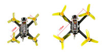 100/130 PNP FPV Racer Drone Mini fly egg Indoor Quadcopter PIKO BLX Flight Control with DSM 2/XM/FS RX2A/FM800 Receiver F21459