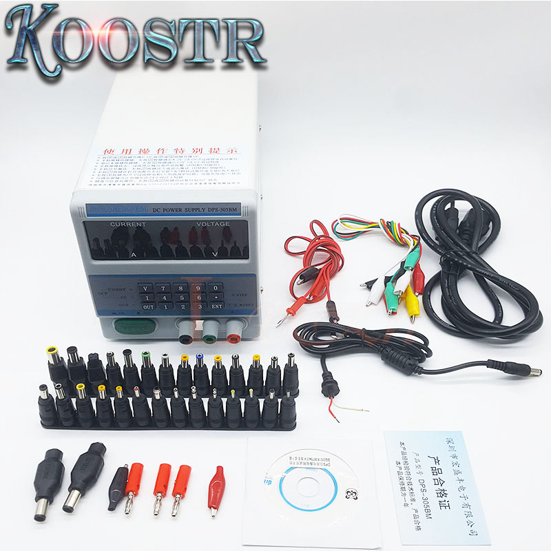 Display 220V 110V Digital Control Voltage Regulated Power Supply DPS 305BM for Laptop Repair with 37