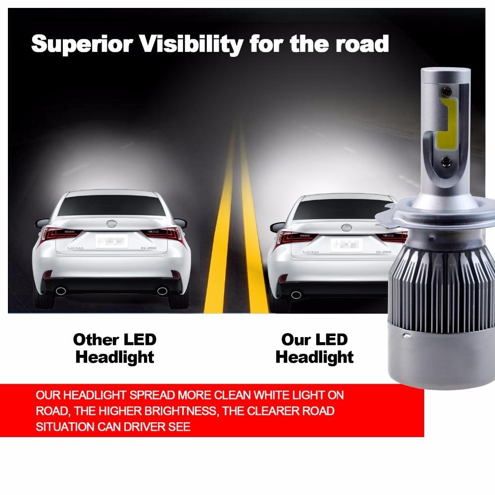 GEETANS H4 H7 H13 H11 H1 9005 9006 COB LED fənər 60W Avtomobil - Avtomobil işıqları - Fotoqrafiya 3