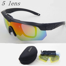 Polarized high quality sunglasses TR-90 ESS CROSSBOW military goggles,5lens bullet-proof Army tactial glasses ,shooting eyewear