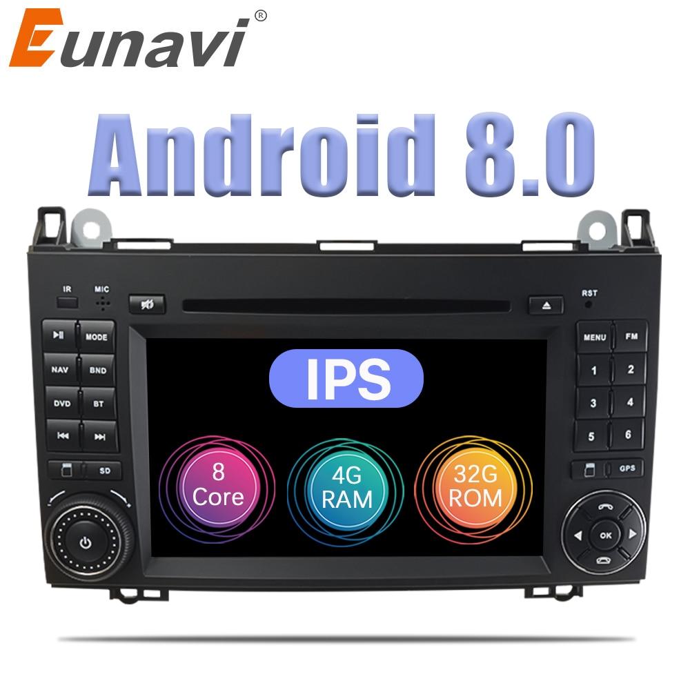 Eunavi 2 Din Android 8.0 Octa 8 core Car DVD Player For Benz Sprinter Vito  W169