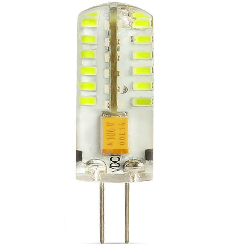 1 Pack G4 Bulb 48 SMD 3014 AC/DC 12V Lamps And Fixtures Energy Saving Warm White/White For Interior Lighting, Signal Lights LED