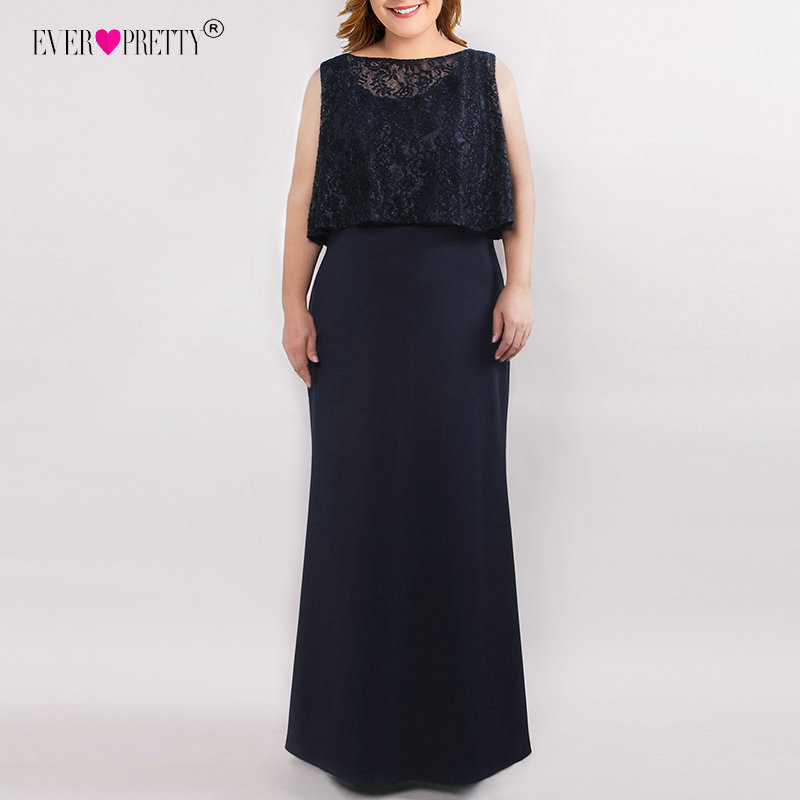 Image 2 - Plus Size Mother Of The Bride Dresses Elegant Straight Sleeveless Illusion Lace Long Formal Party Gown Ever Pretty Vestido Novia-in Mother of the Bride Dresses from Weddings & Events