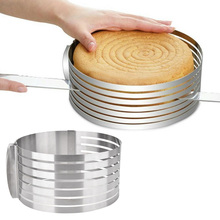 Stainless Steel Adjustable Cake Cutter Slicer Round Bread Mold Tools DIY Kitchen Gadgets