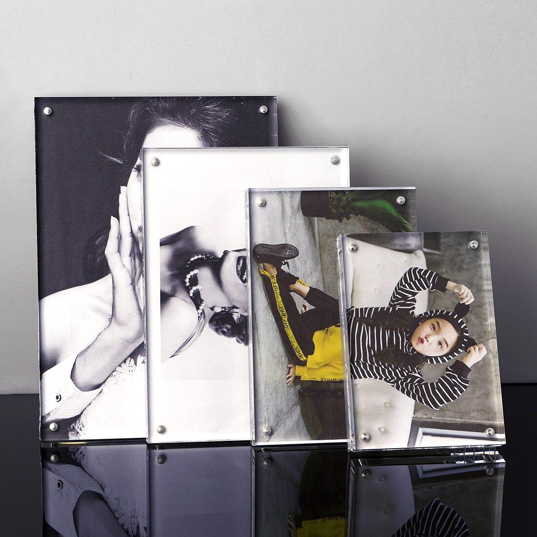 Europe Style Transparent Cadre Photo 4 Taille Rectangle Vintage Photo Cadres pour Photos Famille Affichage Maison Décoration De Bureau