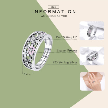 Infinity Love Flower Ring1