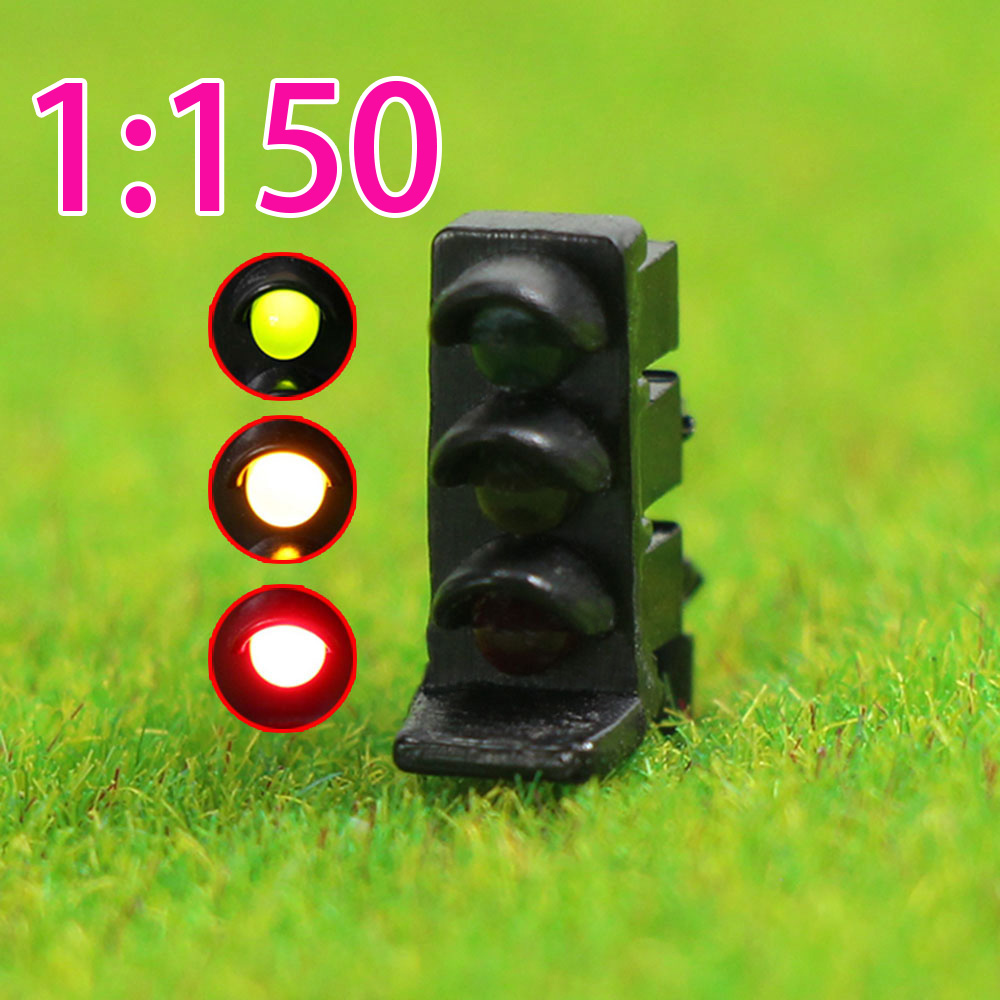 5 pcs N scale LEDs made Dwarf Signals 2 aspects Green over Red