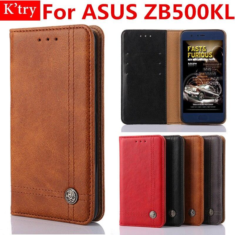 Flip Book Style Titulaire de la Carte Wallet Cas Pour ASUS ZenFone Aller 5.0 ZB500KL Mobile Téléphone Sac Fundas
