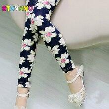 Girls Leggings 2018 Brand Children Leggings Spring Summer Autumn Print Color Skinny Kids Baby Leggings for Girls Pants 18 Colors
