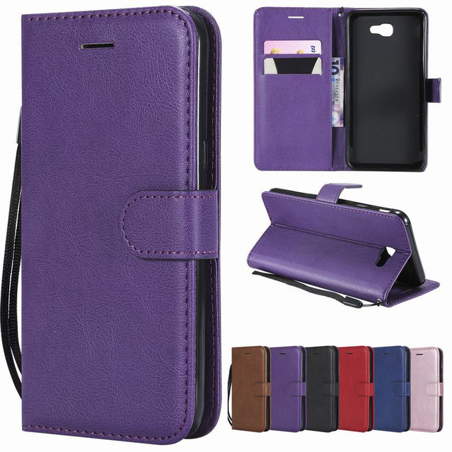 sale retailer b1d37 98766 US $1.64 18% OFF|Leather Case For Samsung J7 2017 2016 Flip Cover Case J7  Prime 2 2018 Wallet Luxury Phone Case For Samsung Galaxy J7 Duo 2015-in ...