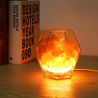 Inlife Crystal Salt Lamp Dimmable LED Light With Air Purifying Function Warm Night Light Ideal Gift