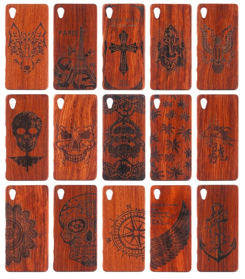 Para Sony Caso Z 5 Z5 E6603 Natural Madeira Tampa Traseira Dura Caixa do telefone para Xperia Sony Z5 D6603 D6633 D6653 D6683 Casca De Madeira cobrir