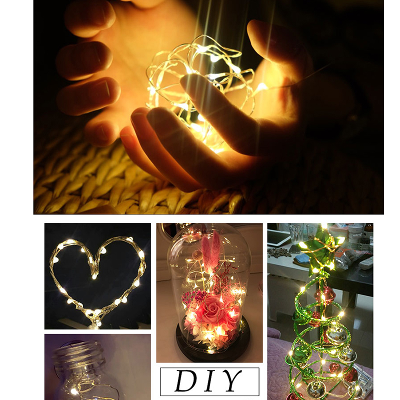 2M 20Led String Lights For Xmas Garland Party Wedding Decoration mariage Night Light Christmas Flasher Fairy Lamps For Kids Gift