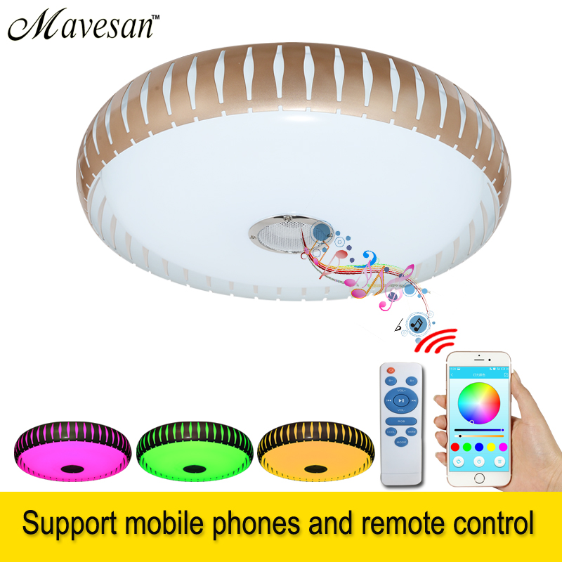 2019 RGB Living room led Lamp ceiling Dimmable 36W with Bluetooth and  Remote Control Music modern LED lamparas for baby room  2019 RGB Living room led Lamp ceiling Dimmable 36W with Bluetooth and  Remote Control Music modern LED lamparas for baby room