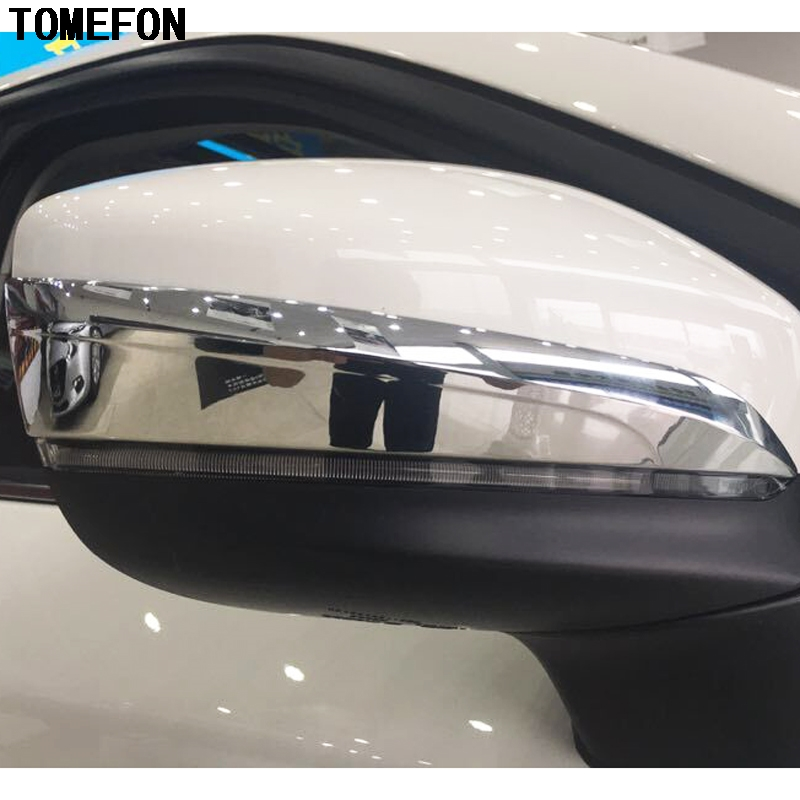TOMEFON For Mazda CX-9 CX9 2017 2018 ABS Chrome Accessories Exterior Car Rearview Mirror Cover Trim Stripe Car Styling 4Pcs