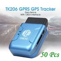 Deaoke TK206 (Blue version) 50Pcs Free Shipping OBD gps tracker gps vehicle tracker car gps tracker obd 2 OBD II GPS Tracker