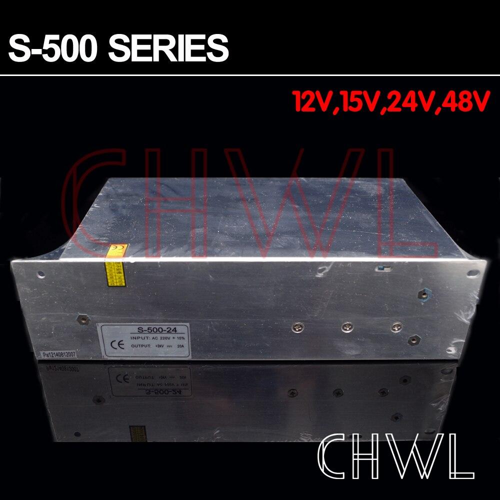 Livraison gratuite haute qualité 24 V 20A 500 W alimentation à découpage pour bande de LED AC 100-240 V entrée