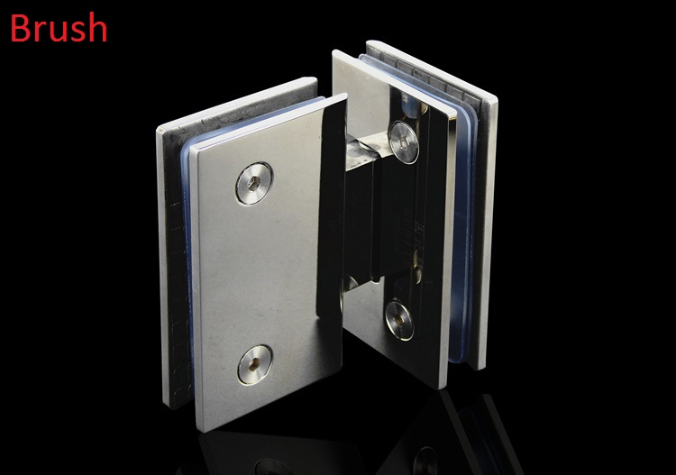 2Pcs/Lot  90 Degree Corner 304 Stainless Steel Shower Screen Frameless Glass Hinges Shower Box etya bank credit card holder card cover