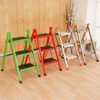 New Convertible Multi functional Two/Three Step Ladder Chair Library Furniture Folding Wooden Stool Chair Step Ladder For Home