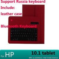 Luksusowe Bluetooth Klawiatura Z Skórzanym Etui pokrywa Dla HP Elitepad 900 G1 1000 G2 10.1
