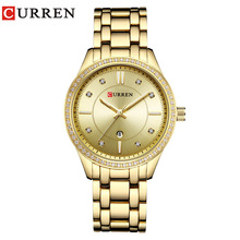 Curren Watches Top Brand Luxury Women Full Steel Quartz Watch Fashion Casual Ladies Dress Elegance Clock watch relogio feminino