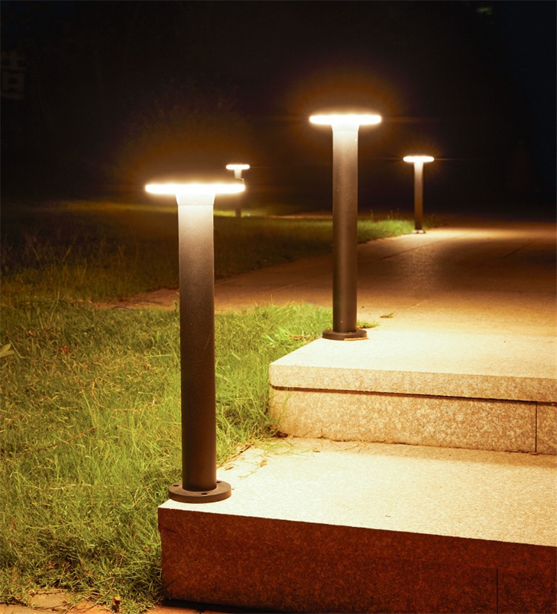 Prova D' Água Luz Moderno Parque Comunidade Pós Lâmpada Levou Luz Bollard
