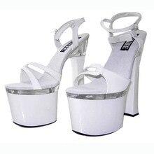 Dicke 18 CM Schuhe Mit Hohen Absätzen Hochhackigen Sandalen, kleid Schuhe, leistung/Stern/Modell Schuhe, Sexy Party Heels