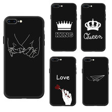 2053073219 Couple KING Queen Crown Phone Case For iPhone 6 6s Plus 7 8 Matte Silicone  Soft