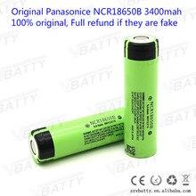 New original 18650 lithium-ion Rechargeable battery 3400 mAh 3.7 V for Panasonic NCR18650B batteries(6 pcs)