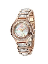 Ladies Stainless Steel Large Crystal Watch tt Watches Table Bling Day Date Brand Wristwatch Girls uk Famous Rose Gold HL591PB