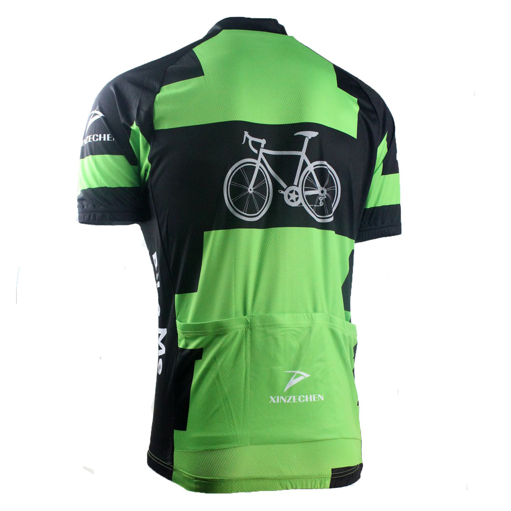 f12a8be6b Green Cycling Team Jersey   Jacket   T shirt Bike Clothes Bicycle Top  Cycling Wear-in Cycling Jerseys from Sports   Entertainment on  Aliexpress.com ...