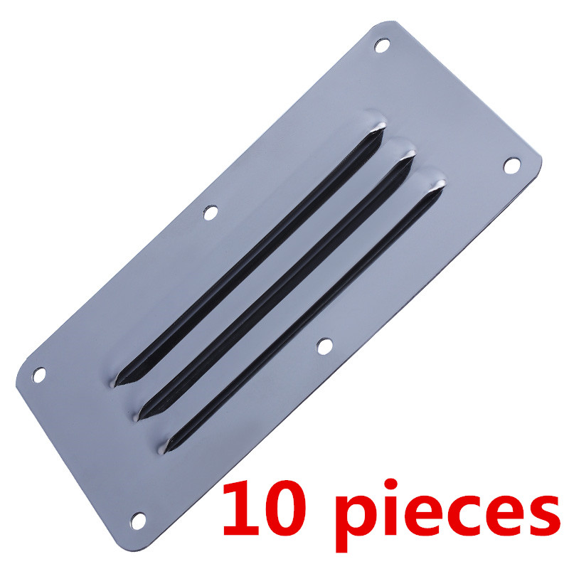 10 Pieces Stainless Steel Marine Accessories Boat Yacht Air Vent Grille Covers Ventilation Grill Cover 126X65 mm