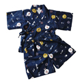 Комплекты детской одежды для сна  летние льняные пижамные комплекты с коротким рукавом для мальчиков и девочек  2 шт.