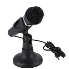 New Microphone for Computer Wired Handheld Professional Mic Condenser Microphone with Microphone Holder/Stand  For PC Computer