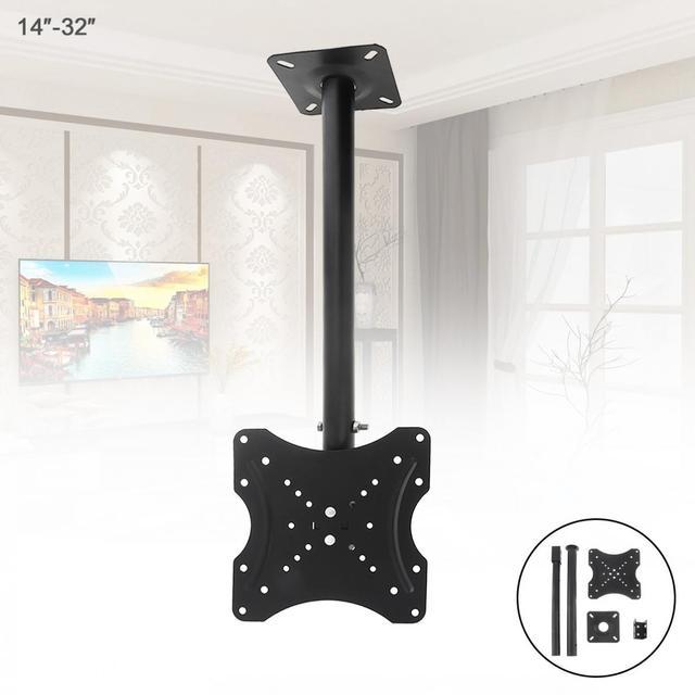 Evrensel 25KG ayarlanabilir TV düz Panel duvar askısı desteği 360 derece dönebilen kablo klipsi 14   32 inç LCD LED monitör