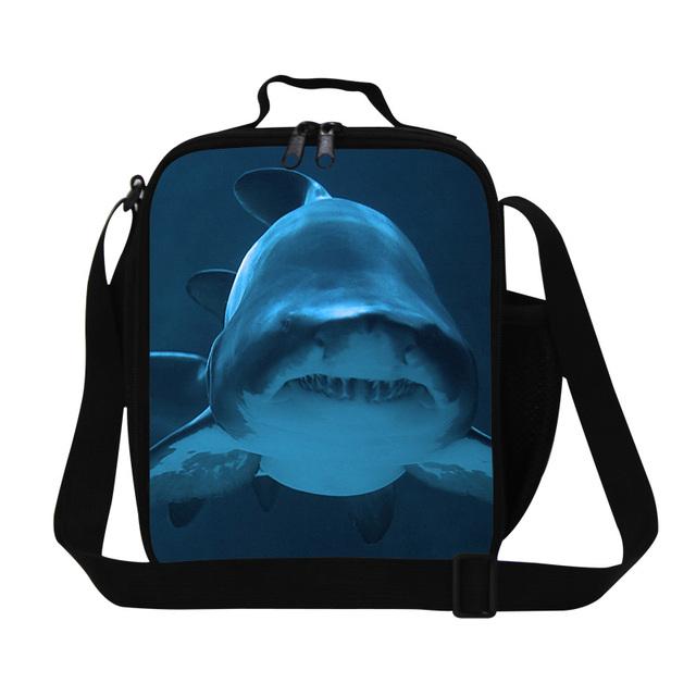 Crianças térmicas Lancheira Pequenos Sacos de Almoço 3D Animais Tubarão Senhora Do Escritório para Crianças Saco Do Piquenique Lancheira Golfinho Estudantes Comida saco