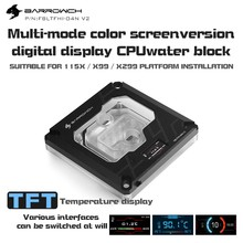 Barrowch FBLTFHI-04N-V2 For Intel Lga115X/X99/X299 CPU Water Blocks Digital Display Temperature Microwaterway Acrylic(China)
