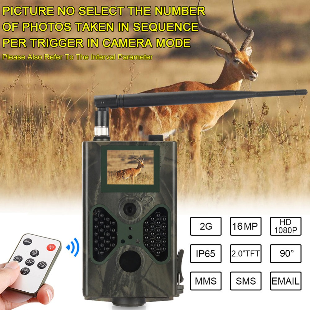 Wild Hunting Trail Camera 16MP Photo Traps Email MMS GSM 1080P Night Vision HC300M Upgrade HC330M