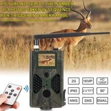 Дикая Охота Trail камера 16MP фото ловушки электронной почты MMS GSM 1080 P ночное видение HC300M обновления HC330M дикой природы s Chasse