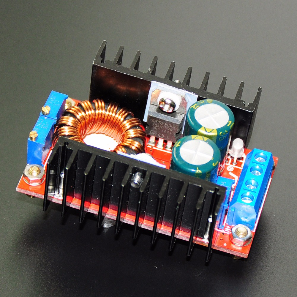 4pcs 10 30v To 12 35v Step Up Cv Cc 150w 10a Dc Boost Converter Circuit Power Supply Led Driver Charger Adjustable Voltage Regulator In Integrated Circuits From