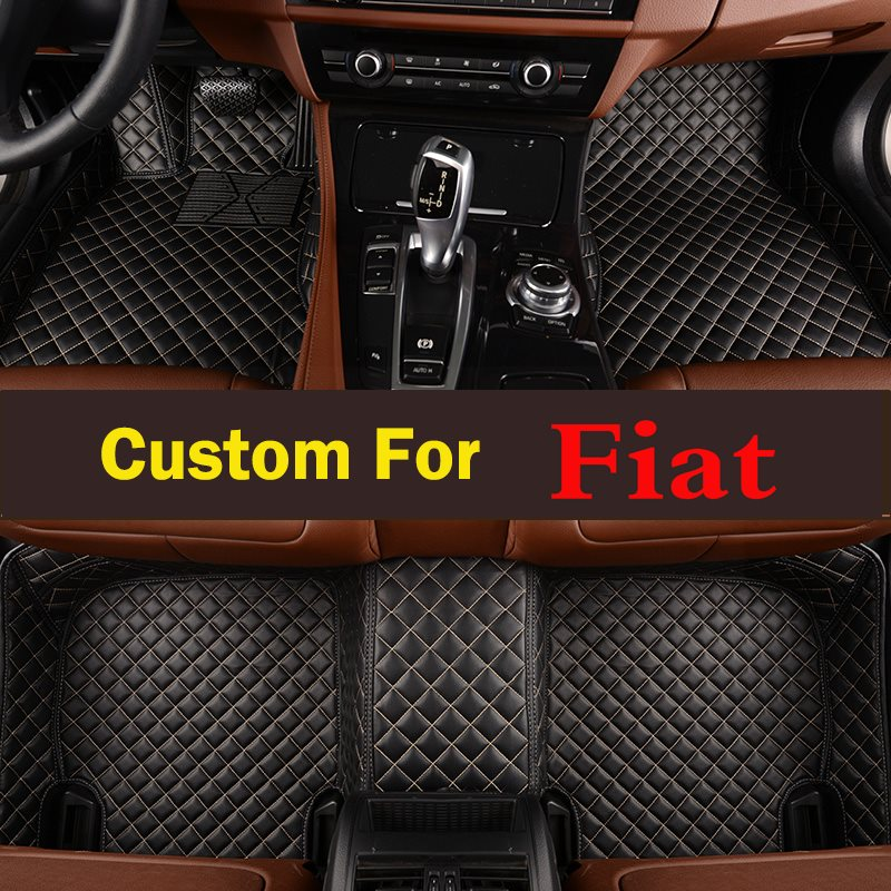 Profession 3d Car Floor Mats For Fiat 500x 2016 2017 Models Universal Fit Butterfly and Flower Car Floor Mats