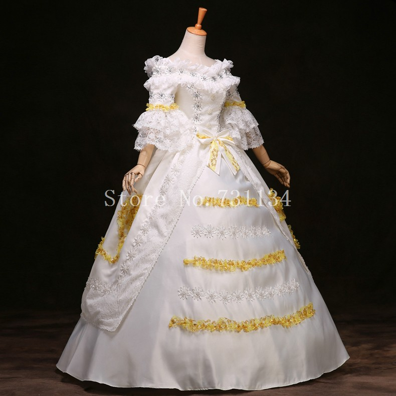 Brand New White Lace Marie Antoinette Dress 17th 18th Century ...