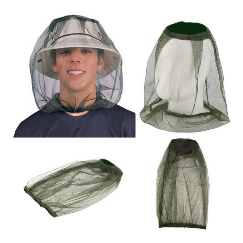 Hot Midge Mosquito Insect Hat Bug Mesh Head Net Face Protector Travel Camping Hedging Anti-mosquito Cap New OC2716