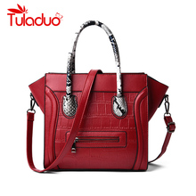 Vintage PU Leather Big Casual Tote Women Bags Tote High Quality Smile Women's Handbags Shoulder Crossbody Bag Messenger Bags Sac недорого