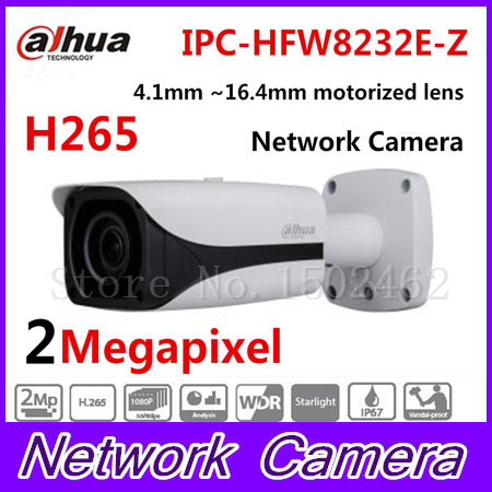 Free Shipping DAHUA CCTV IP Camera 2MP FULL HD Starlight IR Bullet Network Camera IP67 IK10 With PoE Without Logo IPC-HFW8232E-Z free shipping dahua ipc hfw4300s ir hd 1080p ip camera security outdoor 3mp full hd network ir bullet camera support poe