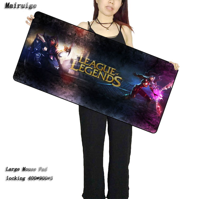 Mairuige League of Legends large Lock Edge gaming Rubber mouse pad non slip laptop table mat for LOL Surprise CSGO Free Shipping in Mouse Pads from Computer Office