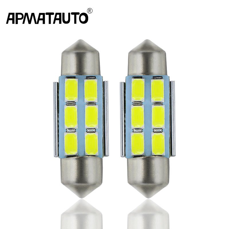 2x For Volkswagen VW Golf 4 5 Passat 3B 3BG 3C CC Polo 9N T5 Eos C5W 36mm License Number Plate Light LED Bulb