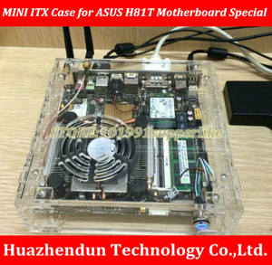 Computer Case for A-S-U-S H81TN DQ77KB Motherboard Mini Transparent chassis THIN-ITX