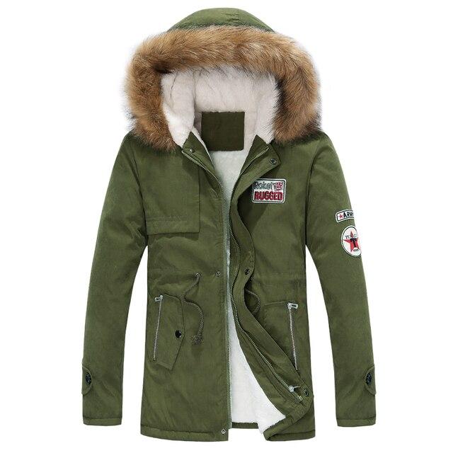 Бесплатная доставка новых осенью и зимой взрыва мужчины Корейской версия Стройная Длинный теплый с капюшоном пальто Мужские Случайные Толщиной верхняя одежда