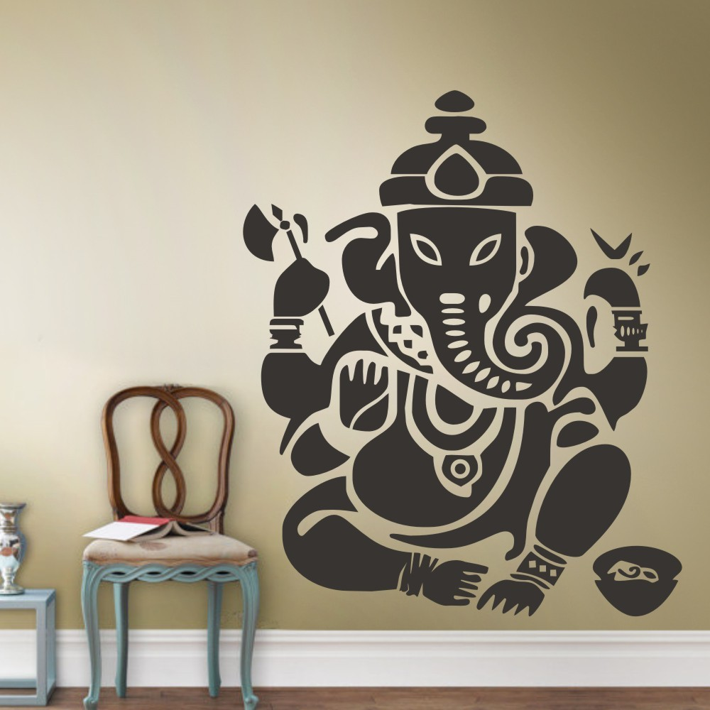 Wall decal art decor sticker ganesh buddhism india indian for Stickers de pared